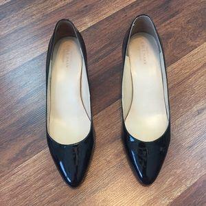 Cole Haan Black Patent Wedge Heels